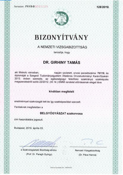 Szakorvosi diploma